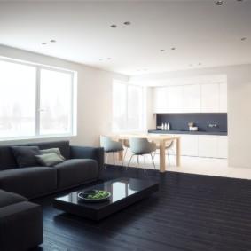 дизайн квартиры в стиле минимализм оформление фото