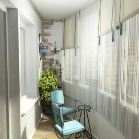 дизайн маленького балкона фото виды