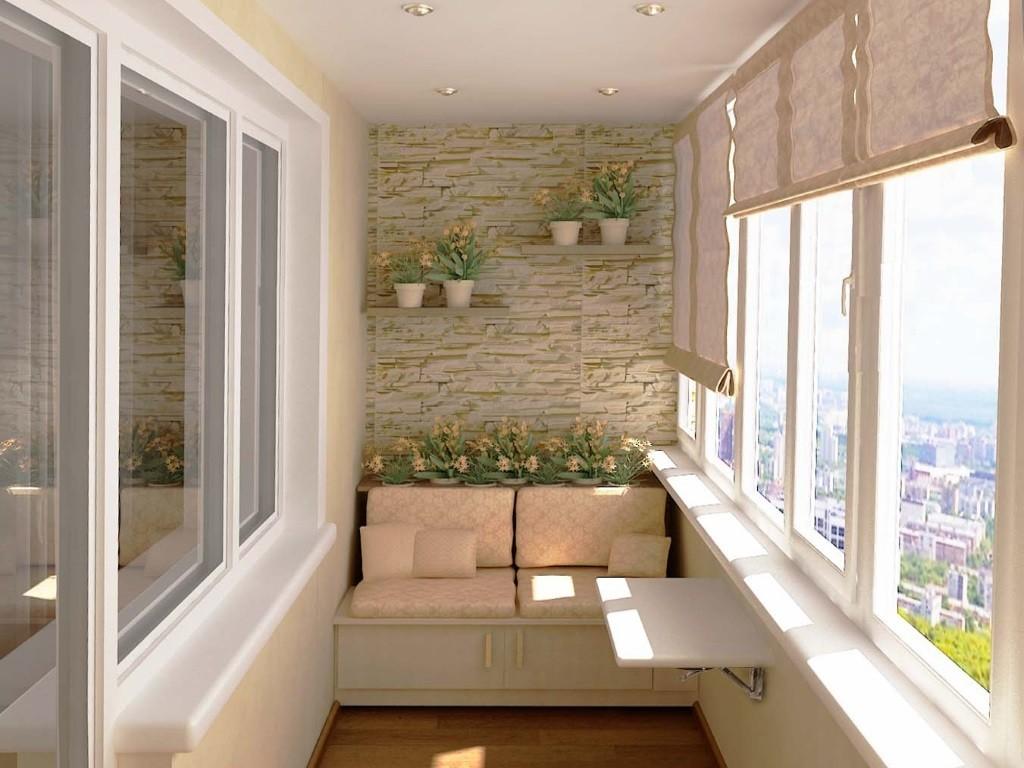 дизайн балкона плитка