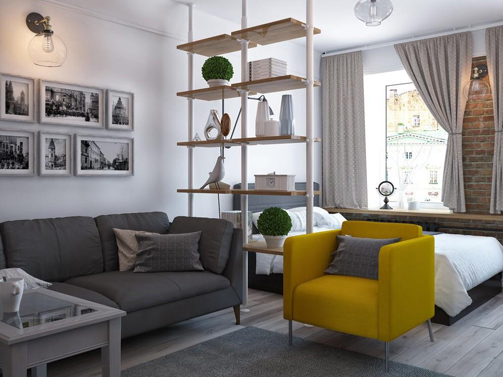 дизайн однокомнатной квартиры распашонки
