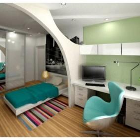 однокомнатная квартира для семьи с ребенком виды дизайна