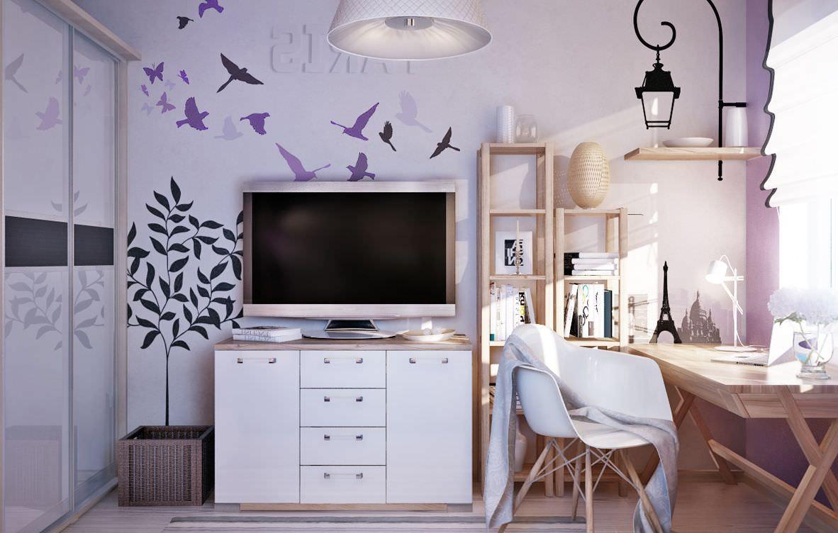 дизайн спальни для девушки белый