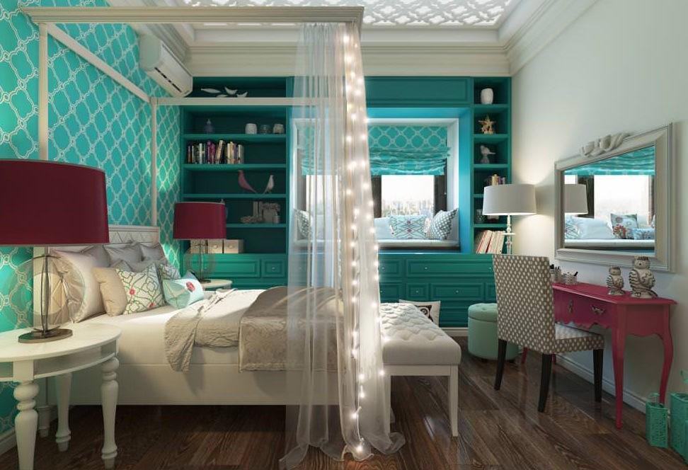 дизайн спальни для девушки идеи фото