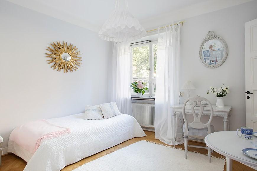 дизайн спальни для девушки классика