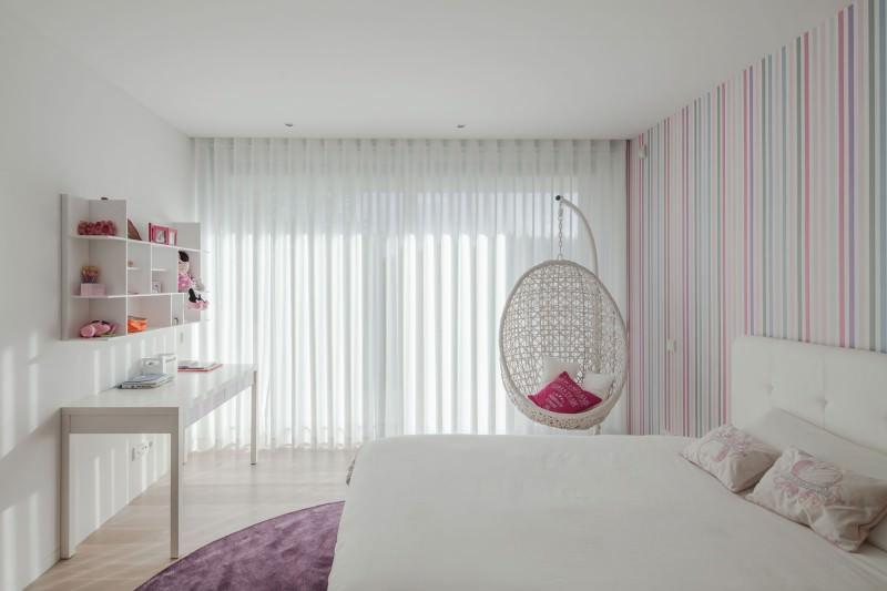 дизайн спальни для девушки обои