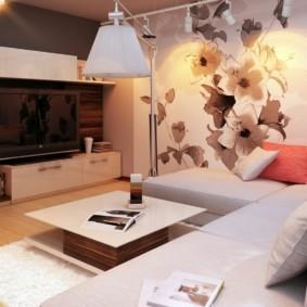 дизайн стен в гостиной комнате