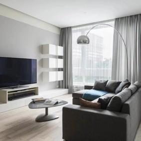 дизайн стен в гостиной комнате идеи интерьер