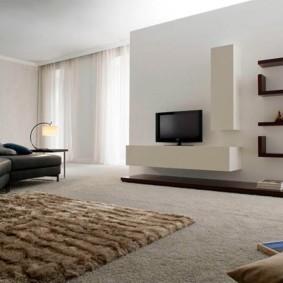 дизайн стен в гостиной комнате фото оформление