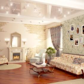 дизайн стен в гостиной комнате оформление идеи