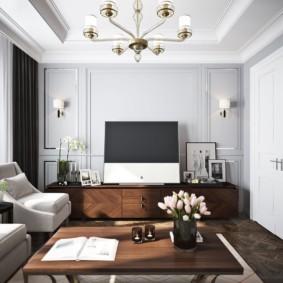 дизайн стен в гостиной комнате идеи оформления