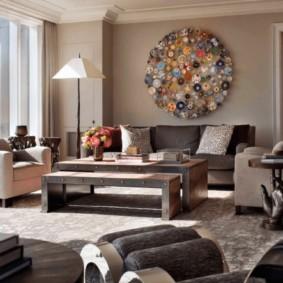 дизайн стен в гостиной комнате фото варианты