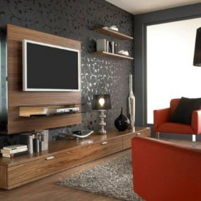 дизайн стен в гостиной комнате фото вариантов