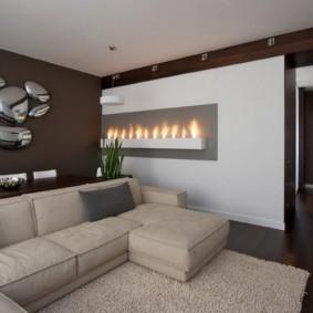 дизайн стен в гостиной комнате идеи варианты