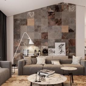 дизайн стен в гостиной комнате идеи вариантов