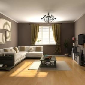 дизайн стен в гостиной комнате виды фото