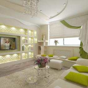 дизайн стен в гостиной комнате фото видов