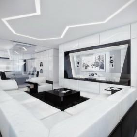 дизайн стен в гостиной комнате фото обзор