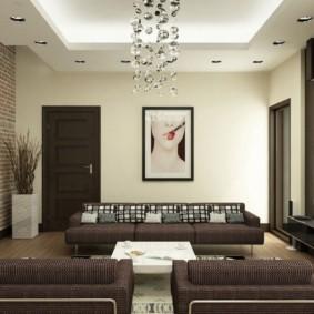 дизайн стен в гостиной комнате современной
