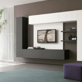 минималистичный дизайн стен в гостиной комнате