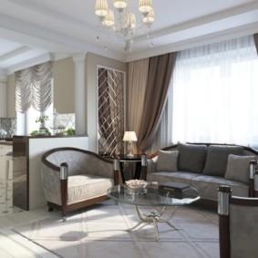 современный дизайн стен в гостиной комнате