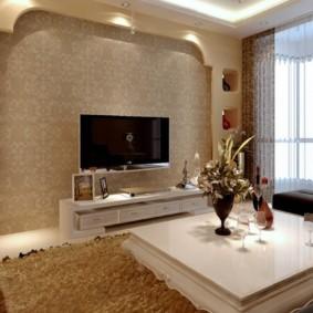 дизайн стен в гостиной комнате фото