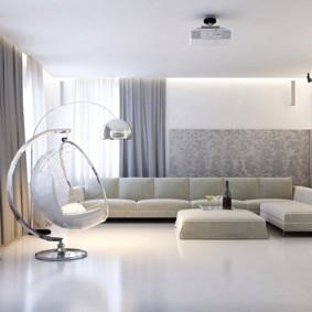 дизайн стен в гостиной комнате интерьер фото