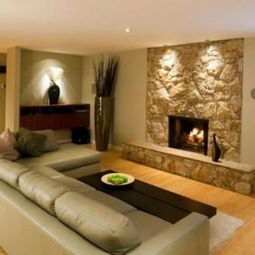 дизайн стен в гостиной комнате фото интерьер
