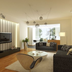 дизайн стен в гостиной комнате фото интерьера
