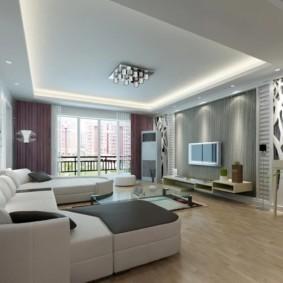 дизайн стен в гостиной комнате интерьер идеи