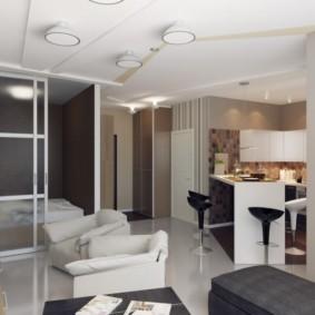 дизайн трехкомнатной квартиры интерьер