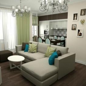 дизайн трехкомнатной квартиры декор фото