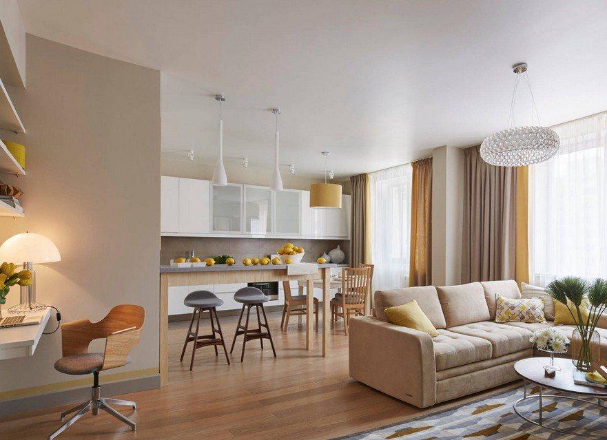 дизайн трехкомнатной квартиры фото интерьера