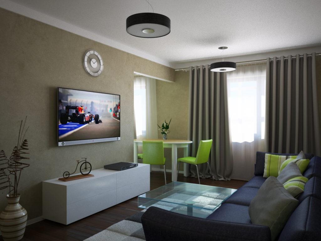 дизайн трехкомнатной квартиры фото потолка
