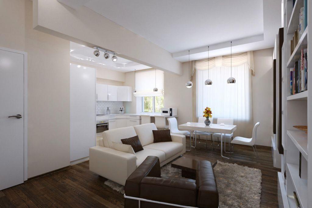 дизайн трехкомнатной квартиры крашеные стены