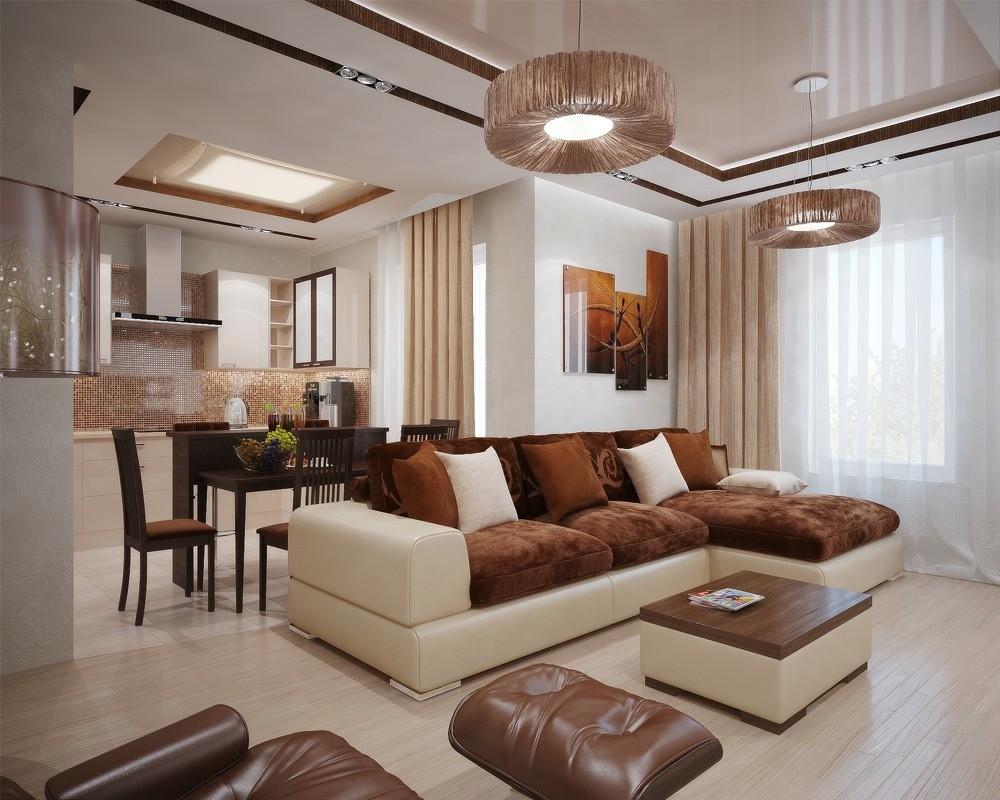 дизайн трехкомнатной квартиры модерн фото