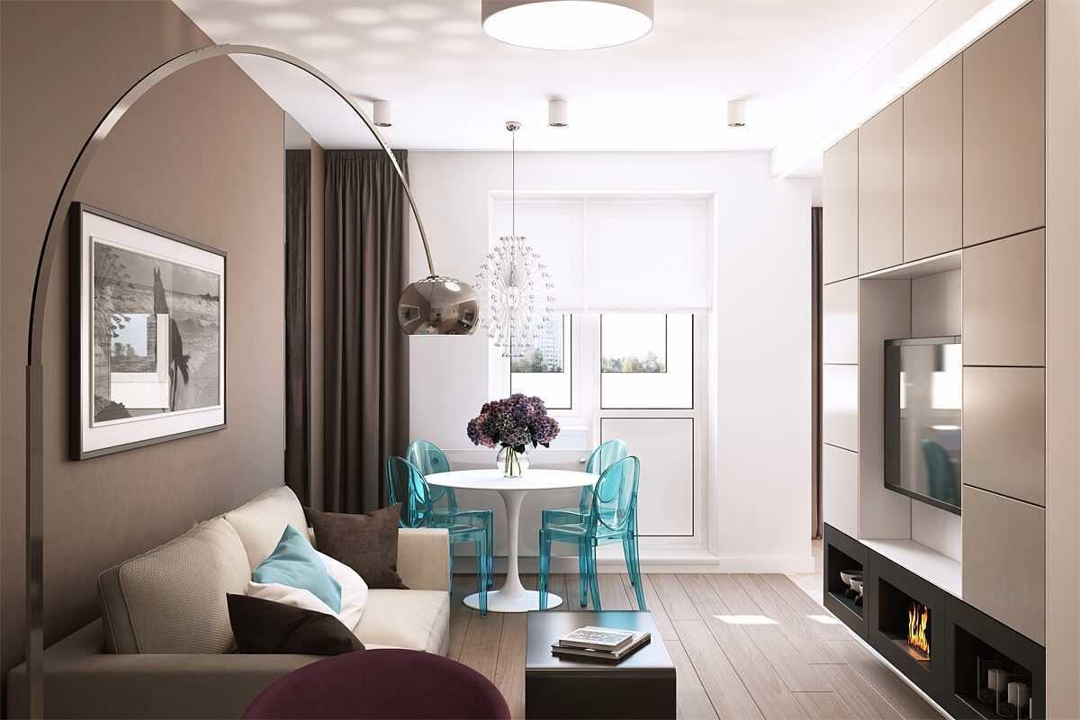 дизайн трехкомнатной квартиры покраска стен