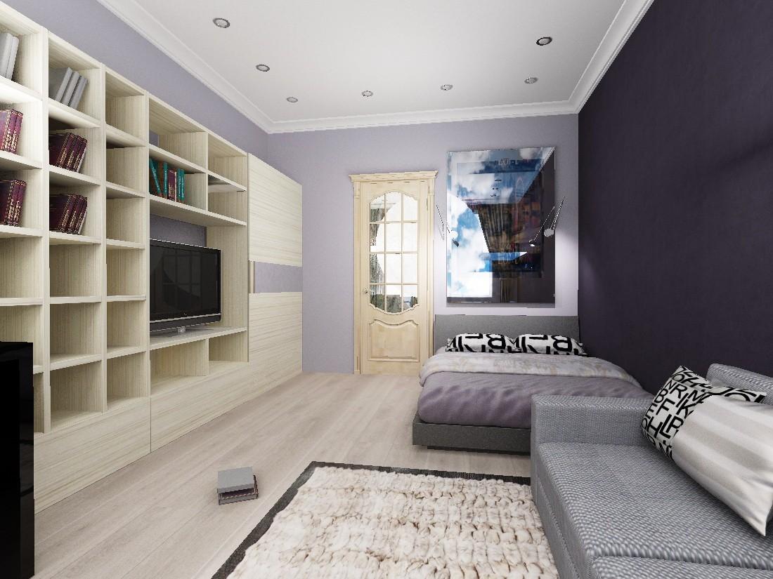 дизайн трехкомнатной квартиры потолок