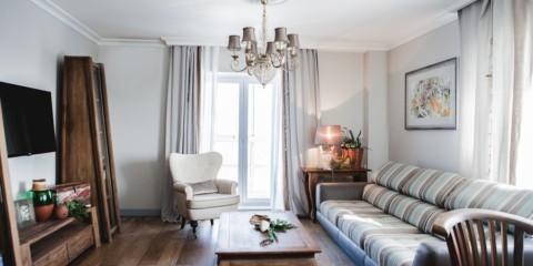 дизайн трехкомнатной квартиры средиземноморский
