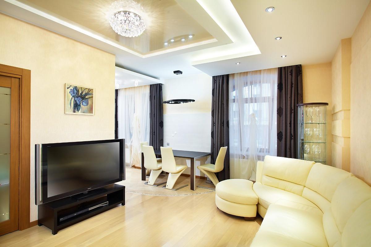 дизайн трехкомнатной квартиры светлый ламинат