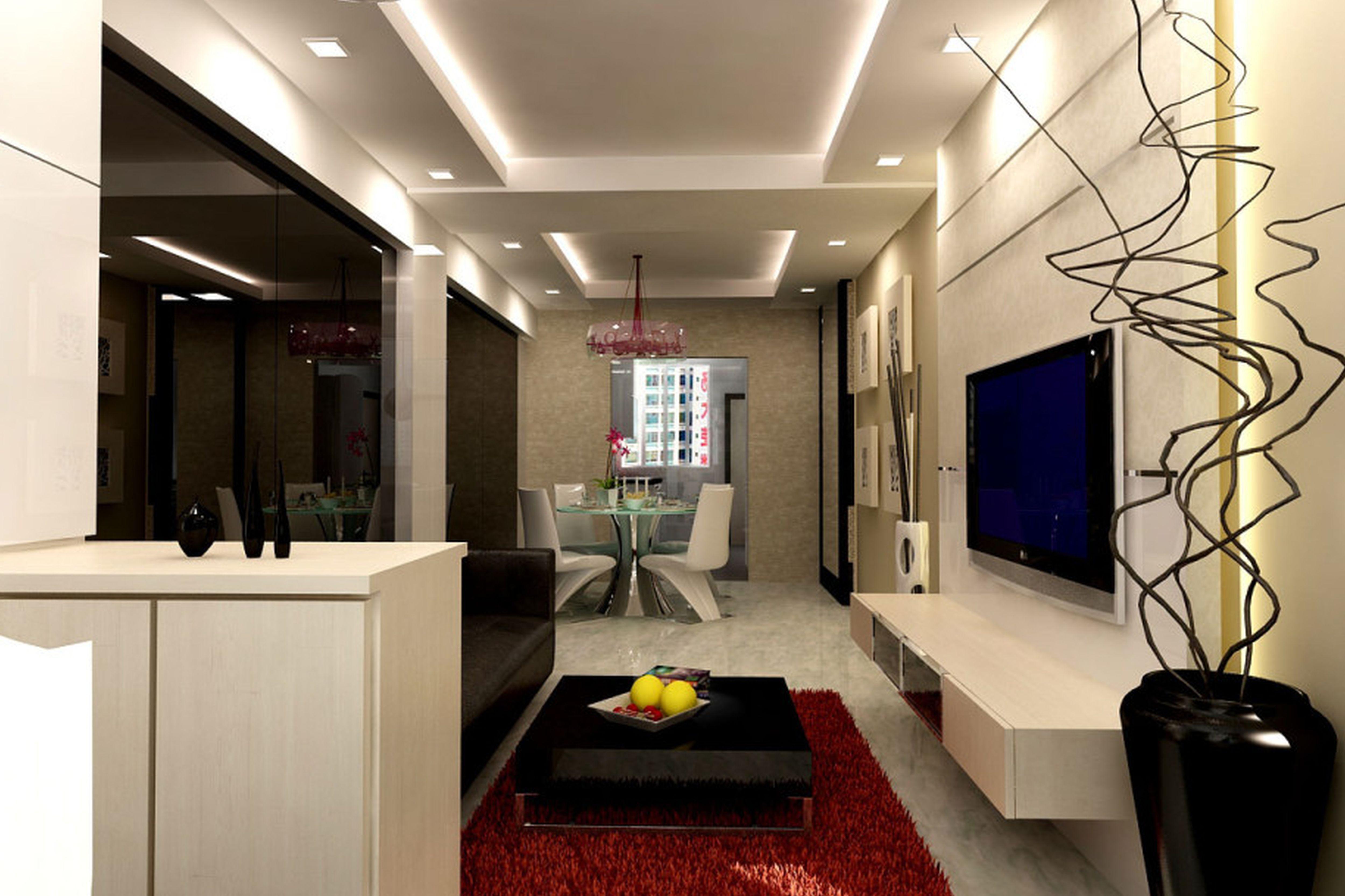 дизайн узкой гостиной варианты