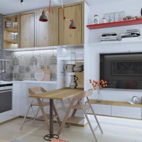 однокомнатная квартира 30 кв м кухня