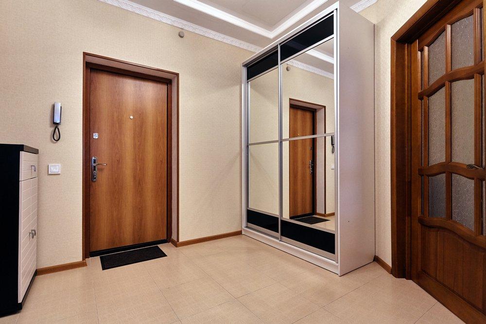 входная дверь в интерьере прихожей