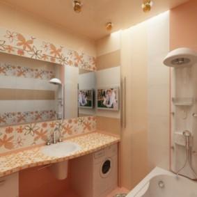 Душевая стойка в просторной ванной
