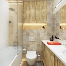 Ниша с подсветкой в стене ванной