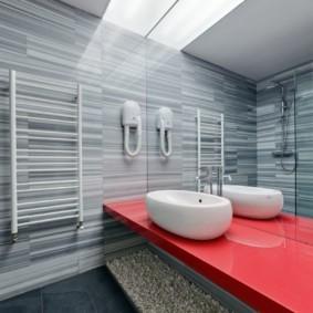 Декор ванной комнаты в современной квартире