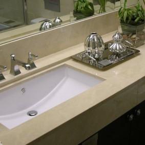 Встроенная раковина в ванной хрущевки