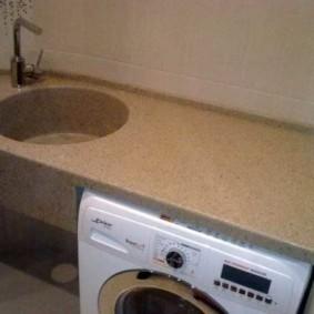 Литая столешница для ванной со стиральной машиной