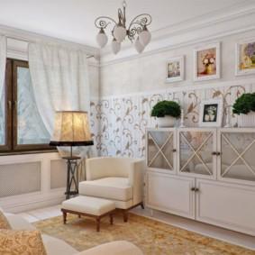 Дизайн уютной гостиной в светлых тонах