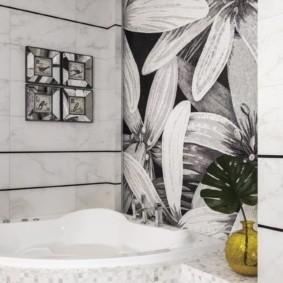 Фотообои в интерьере ванной комнаты
