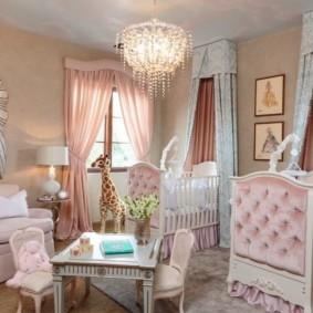 Спальная комната для маленьких девочек